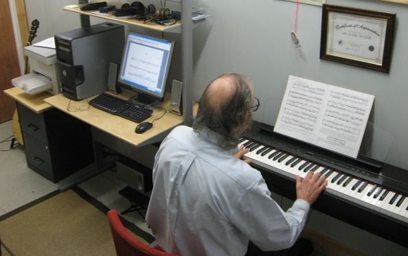 Earle in his music studeo